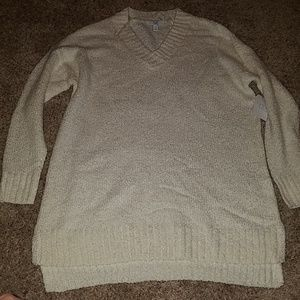 Small time and tru white chenille sweater NWT